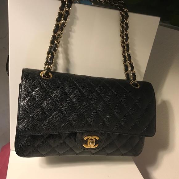 637b5966a06137 CHANEL Bags | Soldauth Classic Medium Caviar Double Flap | Poshmark